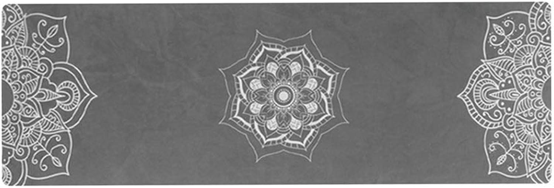 DGLIYJ Yogamatte Faltbare Tragbare Handtuch Schweiabsorbierende Fitness Ultradünne Decke Naturkautschuk Dickes Rutschfeste Gre 183cm × 61cm (4 Farben Optional)