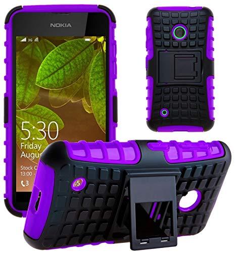 G-Shield Hülle für Nokia Lumia 530 Stoßfest Schutzhülle mit Ständer - Lila