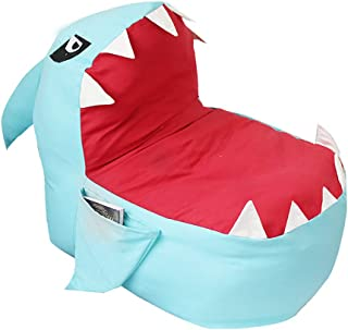 Echolife Adorable Shark Bean Bag Couch Cover Stuffed Animal Storage Bag Chair for Kids Plush Toys Clothes Towels Storage E...