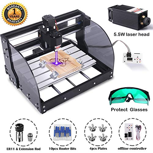 Buy Discount MYSWEETY DIY CNC 3018PRO-M 3 Axis CNC Router Kit with 5500mW 5.5W Module + PCB Milling,...