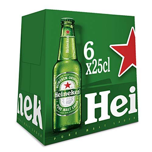 Heineken Cerveza Botella, 6 x 250ml