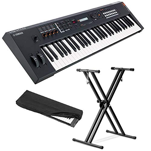 For Sale! Yamaha MX61BK 61 KEY Music Production Synthesizer - Black (with Front Row Keyboard Stand a...