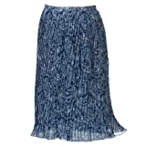Cathy Daniels Floral Pleated Pull-On Maxi Skirt - Women's Plus (2X)