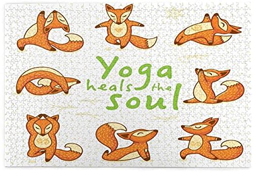 Yoga Heals Soul DIY Rompecabezas educación juguete 1000 piezas rompecabezas paisaje grande para adultos y niños, cada pieza es única