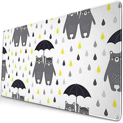 Beren paraplu patroon vector afbeelding muis pad muismat anti-slip rubber duurzaam