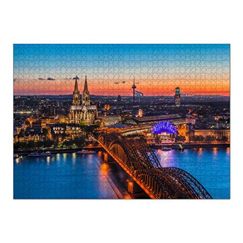 artboxONE Ravensburger-Puzzle XL (1000 Teile) Städte / Köln Sonnenuntergang in Köln
