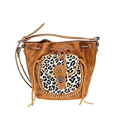 Montana West Safari Collection Drawstring Crossbody Handbag