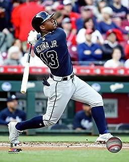 Ronald Acuna Atlanta Braves First MLB Game Photo (Size: 8