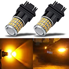 "(Set of 2 Bulbs)54SMD 3014 & 3SMD 3030 high brightness chips per bulb,Working Voltage:9v-30v (fit 12V, 24V vehicles),Size: 1.82""x 0.88"" x 0.67"" Fits:3056 3057 3057K 3057LL 3155 3157 3157A 3157K 3157NA 3157NAK 3157LL 3156NA 3156A 3156 3156K 3356 3357 ..."