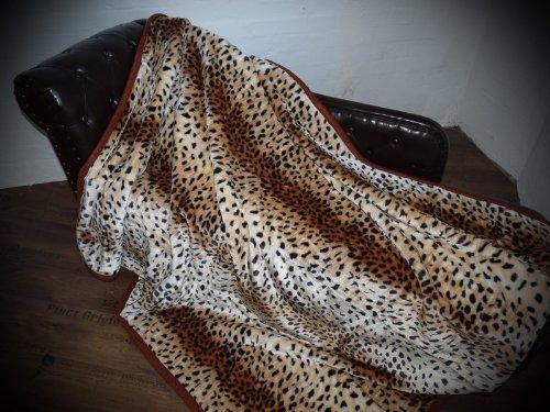 Kuscheldecke Tagesdecke Decke Leopard - Fell Modell II 160x200cm