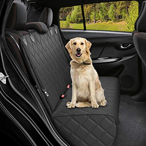 Active Pets Bench Dog Car Seat Cover for Back Seat, Waterproof Dog Seat Covers for Cars, Durable Scratch Proof Nonslip, Protector for Pet Fur & Mud, Washable Backseat Dog Cover for Cars & SUVs
