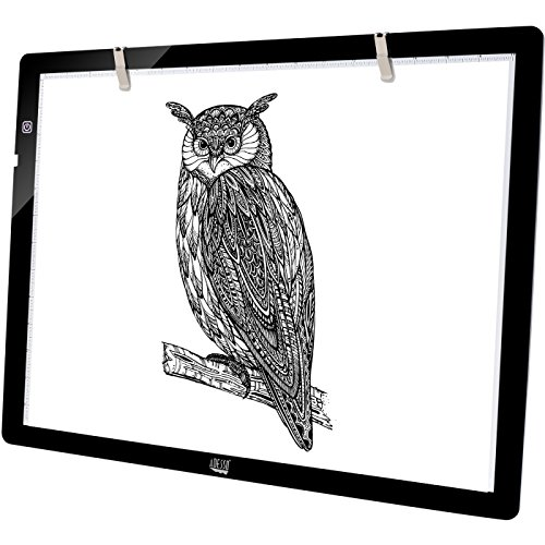 Adesso CyberPad P2 12' x 7' LED Artcraft Tracing Light Pad/Box Artists Drawing Sketching X-ray Viewing Black, CYBERPAD_P2
