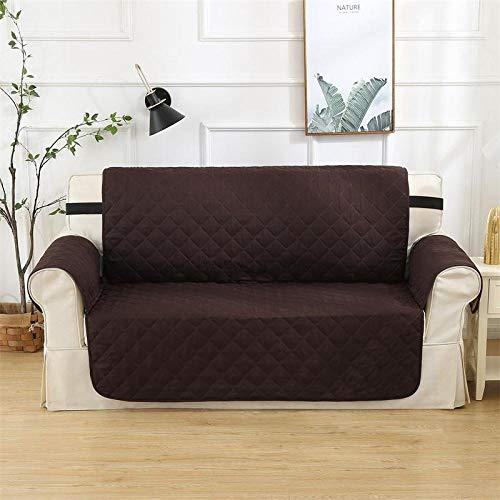 flqwe Liso para Sofá Antideslizante,Funda de sofá Impermeable.Funda esquinera para Mascotas.Lavable y Antideslizante-Brown_46x75inch