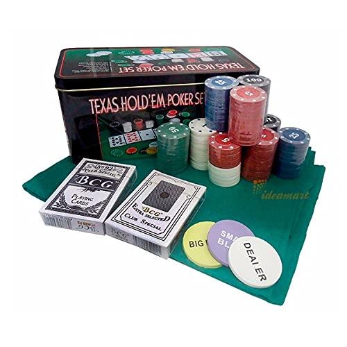 Jogo De Lata Poker Texas Hold'em Poker Set