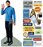 Star Trek Spock Quotable Notable - Die Cut Silhouette Greeting Card and Sticker Sheet...