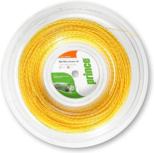 Prince Synthetic Gut DuraFlex 200M Oro 1,25mm Cadena Carrete -