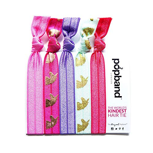 Popband Unicorn Print Elastic Hair Tie Band 5 Pack