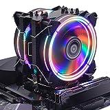 CPU Cooler RGB Black Edition CPU Air Cooler, H120D RGB Fan, 6 CD 2.0 Heatpipes for AMD Ryzen/Intel LGA1151 - Black