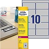Avery L6012-20 etiqueta de impresora Plata - Etiquetas de impresora (Plata, Poliéster, Laser, 96 x 50,8 mm, 200 pieza(s), 20 hojas)