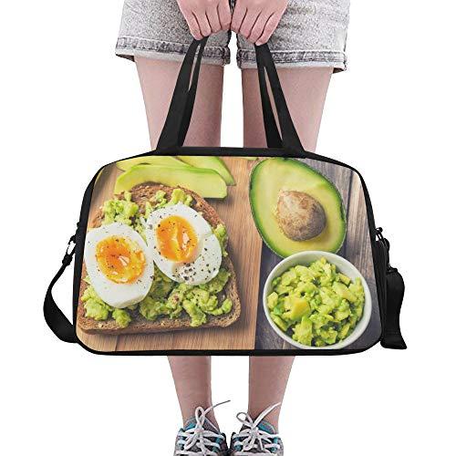Zemivs Duftende und attraktive Avocado große Yoga Gym Totes Fitness Handtaschen Reise Seesäcke Schultergurt Schuhbeutel für die Übung Sport Gepäck für Mädchen Männer Womens Outdoor