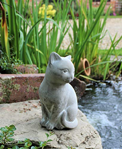 Garden Cat Ornament Decor Indoor Outdoor Statue Animal Home Door Stop 24cm Tall