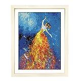 Betionol Diamond Painting Bilderrahmen, Kompatibel mit 30x40 cm / 12x16 Zoll Bild oder Diamond Painting, Holzrahmen in Naturholzfarbe mit Plexiglas- und Rückenmatten- und Hängesets