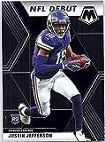 2020 Panini Mosaic #270 Justin Jefferson RC Rookie Minnesota Vikings NFL Football Trading Card. rookie card picture
