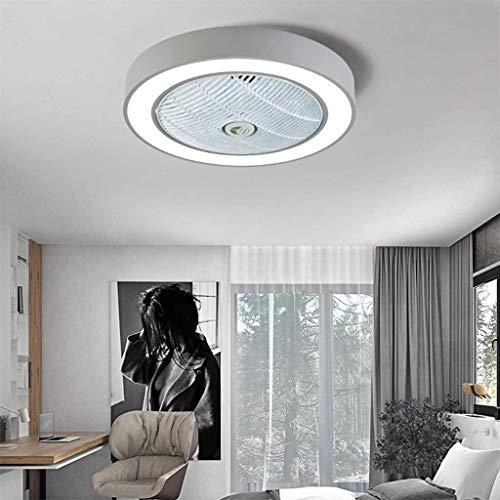 DLGGO Ventilador de techo invisible de luz Ventilador de techo luz moderna simplicidad de techo de luz LED de atenuación Ventilador de techo con iluminación alejado del silencioso de los controles cre