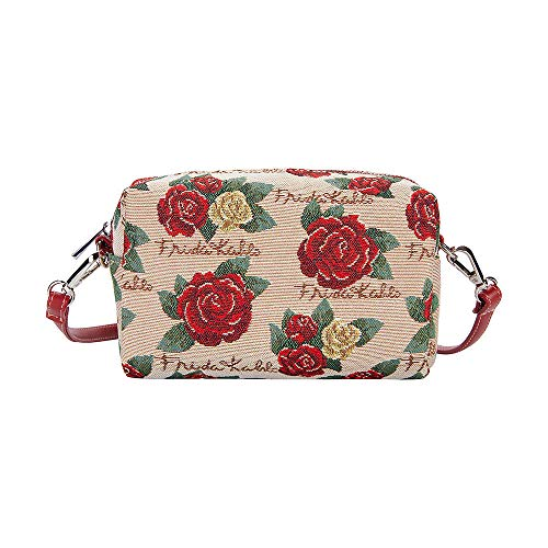 Signare Tapestry Arazzo Piccola Borsa a Tracolla, sacchetto borsello, con i disegni di Frida Kahlo (Frida Rose)