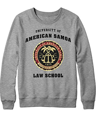 Sweatshirt Call Saul University of American Samoa Law School C210030 Grau M