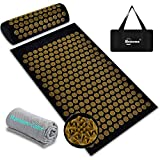 ➤【Reduce Stress,Promote Sleep】 Benooa Acupressure Mat and Pillow Set recommended by doctors, to eliminate pain and tension in a completely natural and non-toxic way. More than 5,000 ergonomic spikes activate your body acupuncture points. Just lie on ...