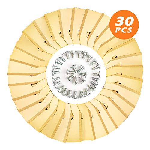 30 Stück Mäher Klingen, 0.75mm Ersatzmesser geeignet Husqvarna Automower ® /Gardena® 105, 310, 315, 320,420 / 430x, R40I, Ersatzeile Mähroboter Klingen