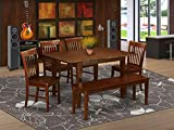 6 Pc dinette set - Table and 4 Dining Table Chairs for Dining room and Bench