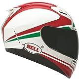 BELL Race Day Star Street Bike Motorcycle Helmet - White/Red/Green/X-Large