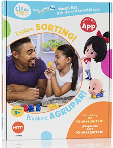 CLEO & cuquin Family Fun! Sorting Math Kit and App: Spanish/English Education, Ages 3 - 5, Kindergarten Readiness