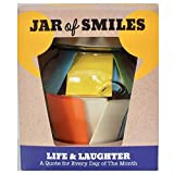 quotes in a jar - Smiles by Julie – Life & Laughter Quotes in a Jar – Fun Messages & Best Wishes Gift - Cheer Up Friends Every Day of the Month – Inspire Happiness – Laugh at Life – Get Well Soon – Glass Jar & Gift Box