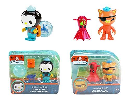 Octonauts Rescue Figur & Sea Creature Pack – Peso & The Tree Lobster & Kwazi & The Vampire Squid S7
