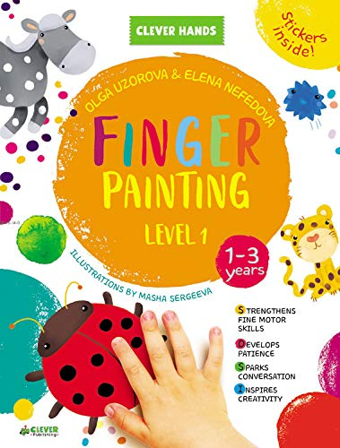 Finger Painting. Level 1: Stickers Inside! Strengthens Fine Motor Skills, Develops Patience, Sparks…