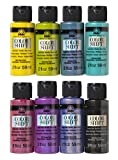 FolkArt Color Shift Glossy Metallic Finish Acrylic Craft Paint Set Designed for Beginners and Artists, Non-Toxic Formula Perfect for Indoor and Outdoor Projects, 2 oz, 8 Fl Oz