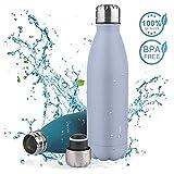 Vivibel Vakuum Isolierte Trinkflasche Edelstahl