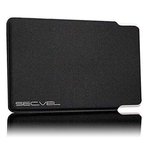 Custodia protettiva brevettata, testato dal TÜV, protezione della carta 5 volte - negro Blocco RFID NFC | Schermatura del campo magnetico | Jammer per carta di credito, di debito, d'identità