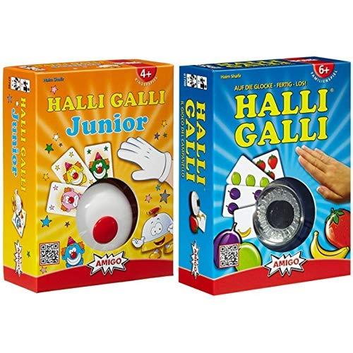 Amigo 7790 - Halli Galli Junior, Kartenspiel & Halli Galli. Auf die Glocke-fertig-los!