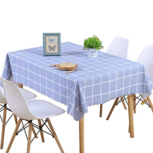 WSJIABIN Rectangular Tablecloths for Dining Tables, Stain-Resistant (130 x 180 cm)