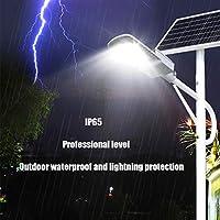 LEDソーラーストリートライト、ソーラーフラッドライト屋外夕暮れ、リモコン、IP65防水太陽セキュリティライト高出力超明るい極ライト,2000w