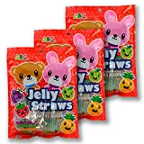 ABC Jelly Straws - Assorted Fruit Flavors 300g (1 Pack)