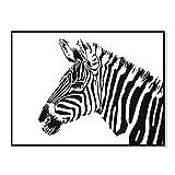 bdrsjdsb Weiß schwarz Zebra Bild Poster leinwand malerei