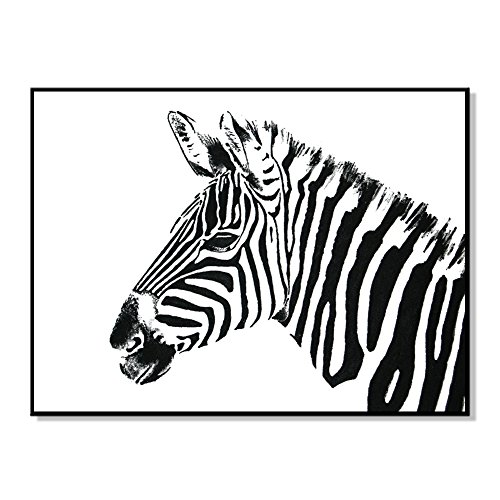 bdrsjdsb Weiß schwarz Zebra Bild Poster leinwand malerei wandbehang Kunst DIY Dekoration 50 * 40 cm