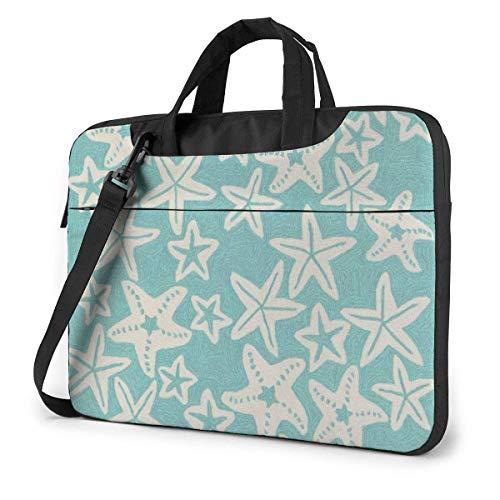 IUBBKI Laptop Case Computer Bag Sleeve Cover Starfish Green Background Waterproof Shoulder Briefcase 13 14 15.6 Inch
