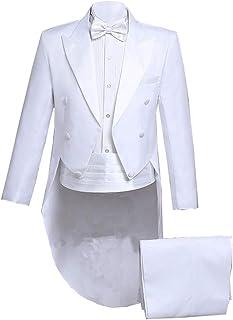 Men 4 Piece Magic Show Costume Wedding Formal Tailcoat Tuxedo Jacket Suits Set