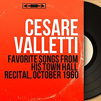 Favorite Songs from His Town Hall Recital, October 1960 (Live, Stereo Version)
